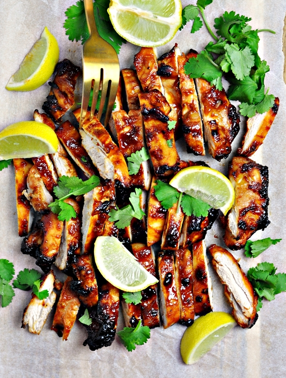 5-Ingredient Sriracha Grilled Chicken by FussFreeCooking.com 2