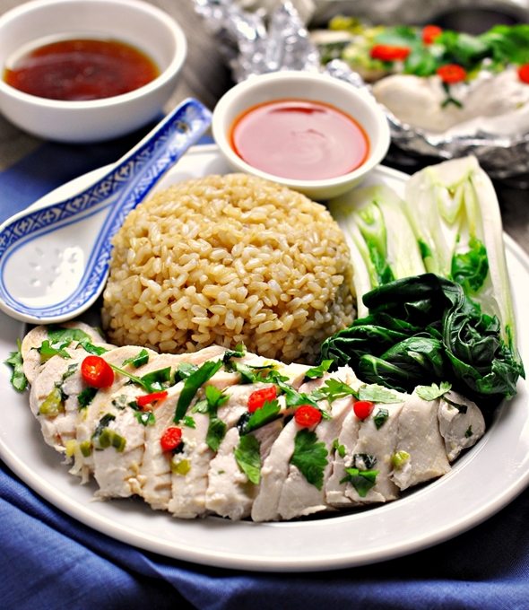 Cheat's Hainanese Chicken Rice - fussfreecooking.com (2)