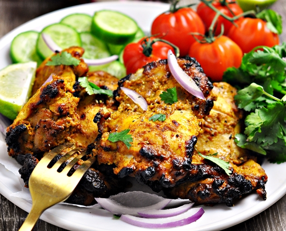 Cheat's Tandoori Chicken | fussfreecooking.com