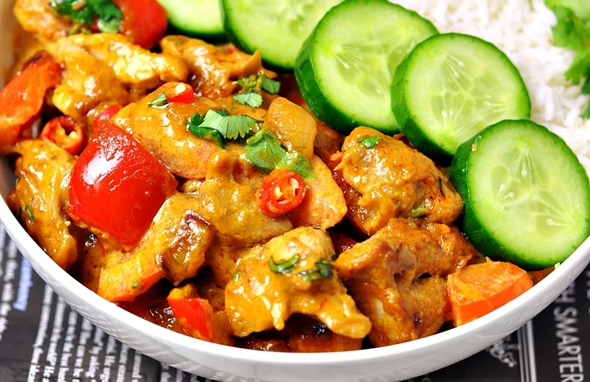 Satay Chicken Stir-Fry - Only 5 Ingredients
