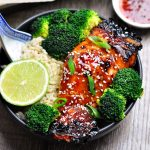 5-Ingredient Grilled Lime and Sweet Chilli Salmon - fussfreecooking.com 1