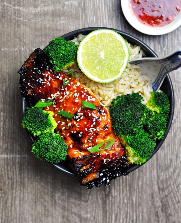 5-Ingredient Grilled Lime and Sweet Chilli Salmon - fussfreecooking.com 2