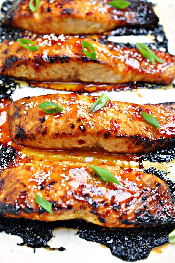 5-Ingredient Grilled Lime and Sweet Chilli Salmon - fussfreecooking.com 3
