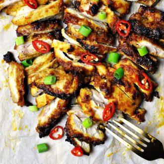 Grilled Satay Chicken with Only Five Ingredients
