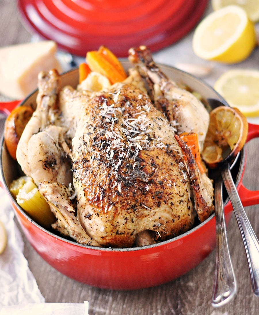 Slow roast chicken | Le Creuset | Fuss Free Cooking