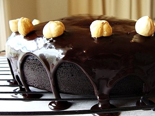 Chocolate Hazelnut Cake Inspired by Ferrero Rocher