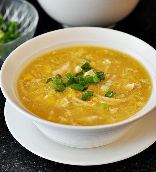 Asian Chicken, Corn & Noodle Soup