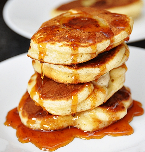 Banana & Coconut Pancakes with Palm Sugar Syrup