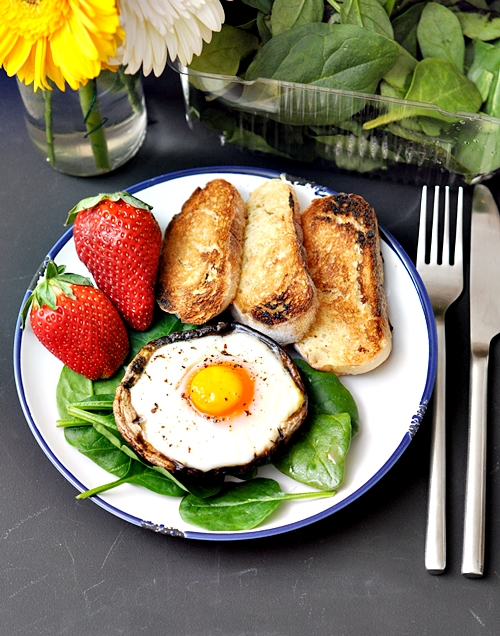 Sponsored Series 1: Baked Egg in a Portobello Mushroom & Giveaway [CLOSED]