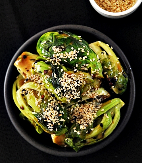 Spicy, Sweet & Savory Brussels Sprouts