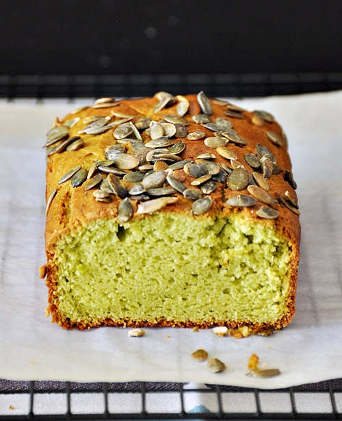 Avocado & Lime Loaf Topped with Pepitas (Pumpkin Seeds)