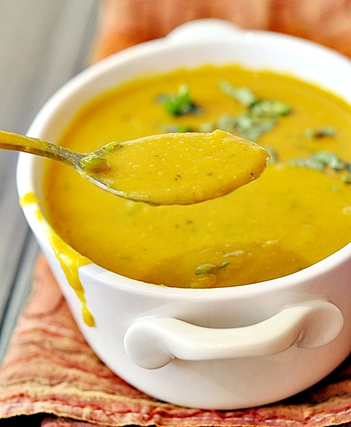 Spicy Red Lentil {soup or curry, you decide!}