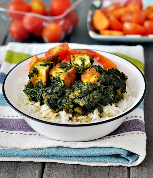 Haloumi and Spinach Curry
