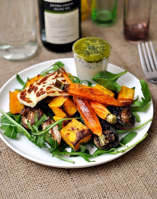 Roasted Vegetables Plate with Haloumi