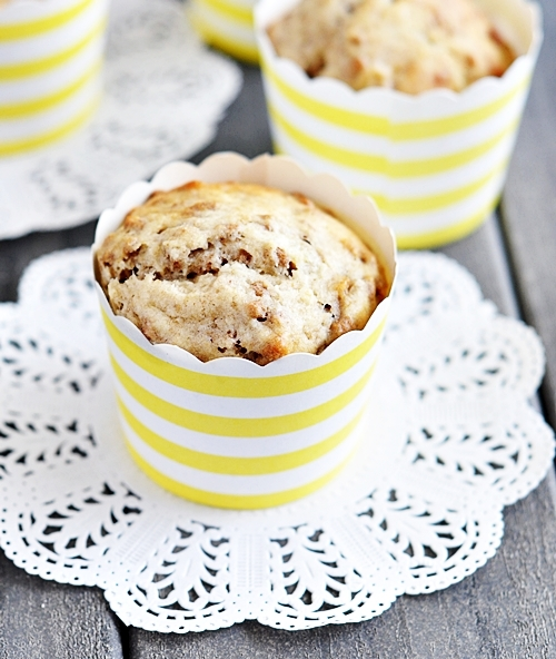 Banana All-Bran Fibre Toppers Muffins