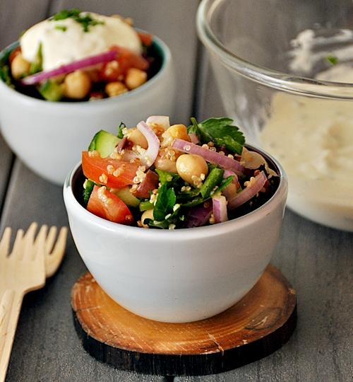 Chickpeas & Quinoa Salad [Vegetarian]