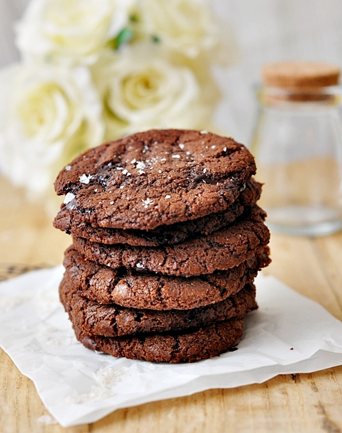 Salted Chocolate Chips & Nutella Cookies