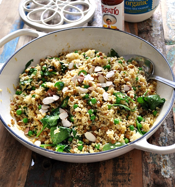 Cheat Curried Rice & Lentil Pilaf  & Bertolli Olive Oil Giveaway Winner