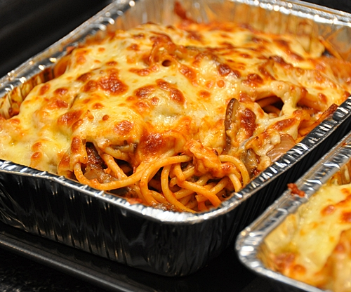 Portobello Mushrooms Spaghetti Bake Fuss Free Cooking