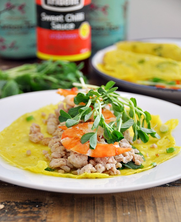 Crispy Vietnamese Crepes (Banh Xeo) Recipe + a Le Creuset Giveaway with Kitchenware Superstore