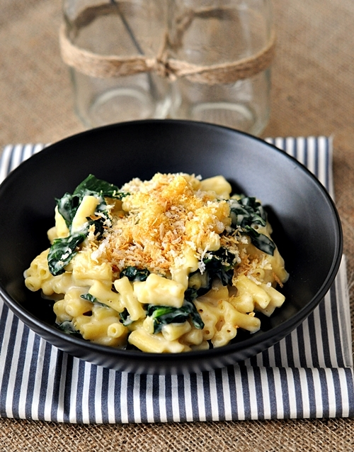 Stove Top Macaroni & Cheese with Kale