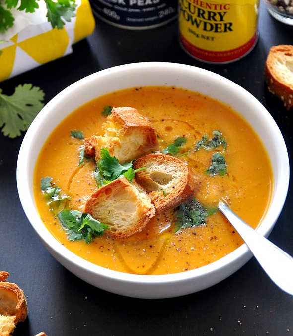 [Recipe] Sweet Potato & Chickpea Soup, Vegan Friendly & Dairy Free