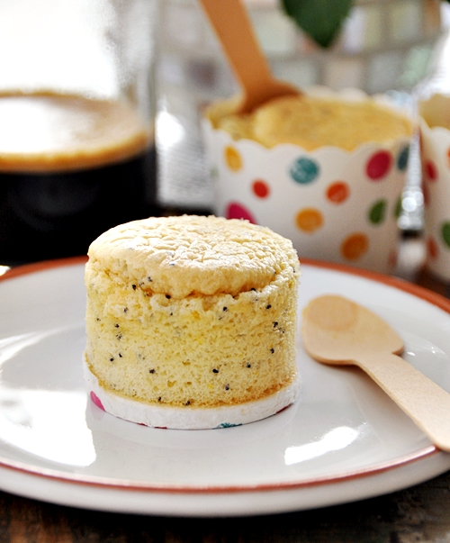 Lite Orange & Poppy Seed Cupcakes