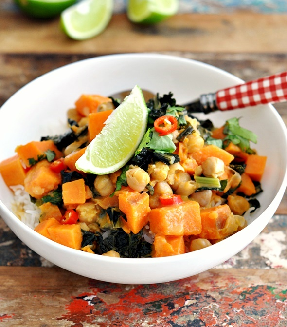 [Gluten Free Recipe] Sweet Potato, Chickpea & Cavolo Nero Coconut Curry