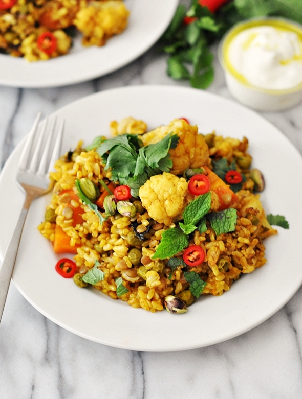 Cheat's Lentils & Vegetables Brown Rice Biryani (ft. SunRice Rice & Lentils) + A Giveaway [CLOSED]
