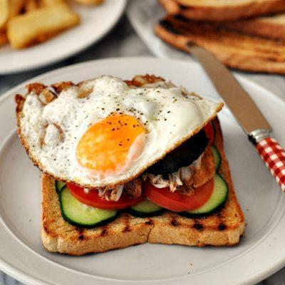 Leftover Makeover Grilled Chicken To Chicken & Portobello Mushroom Club Sandwiches