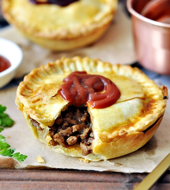Australian Meat Pie Recipe with Olive Oil Shortcrust Pastry (Dairy Free Recipe)