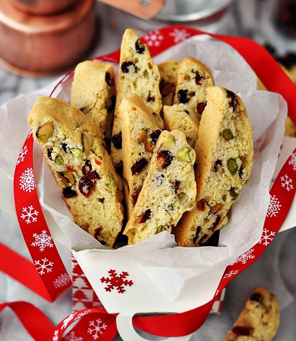 Edible Gift | Cranberry Pistachio Biscotti