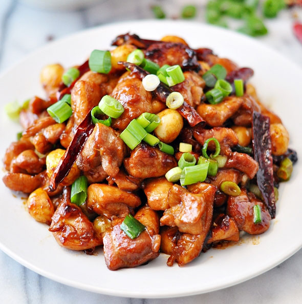 Kung Pao Chicken with Macadamias - Fuss Free Cooking